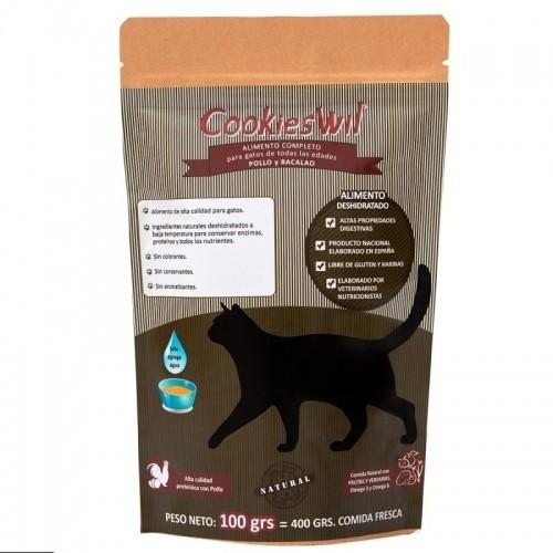 Pienso para gatos Cookieswil sabor Bacalao y Pollo
