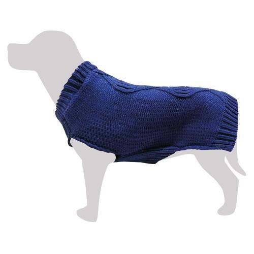 Jersey de punto trenzado color Azul