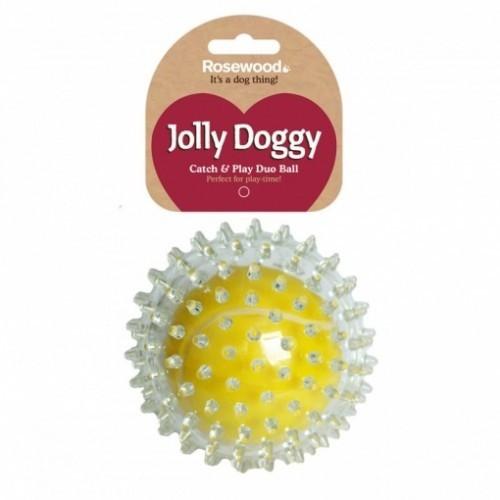 Pelota de tenis con pinchos Jolly Doggy color Amarillo