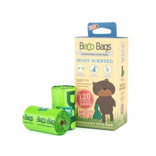 Pack de 120 bolsas para heces perros BecoBags biodegradables olor menta