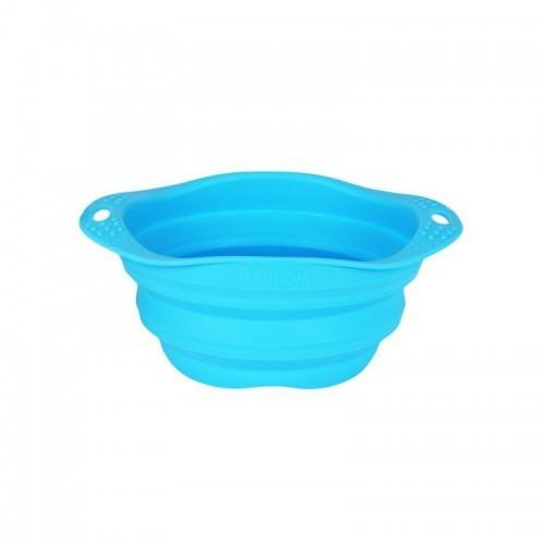 Comedero plegable Beco Travel Bowl para perros color Azul