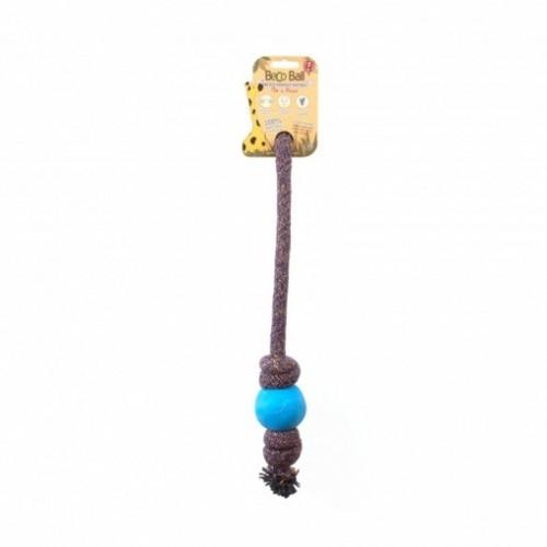 Pelota BecoBall con cuerda para perros color Azul