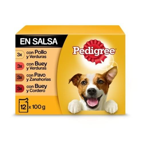 Multipack Pedigree mix comida húmeda en salsa