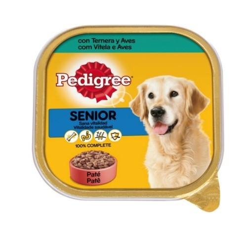 Paté Pedigree Senior de ternera y aves en tarrina