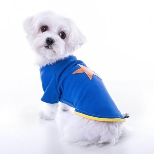 Camiseta para perros Groc Groc Nun Star azul eléctrico