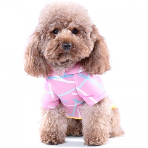Suéter con capucha para perros Groc Groc neopreno rosa