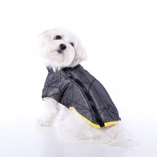 Anorak para perros Groc Groc Chiu Rock negro y plata