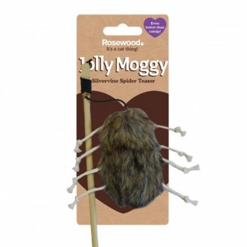 Caña para gatos Rosewood Jolly Moggy con araña