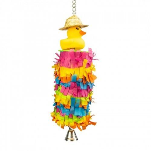 Juguete Piñata Pato para loros color Varios