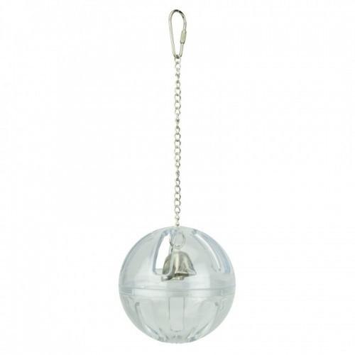 Esfera con campana para loros color Transparente