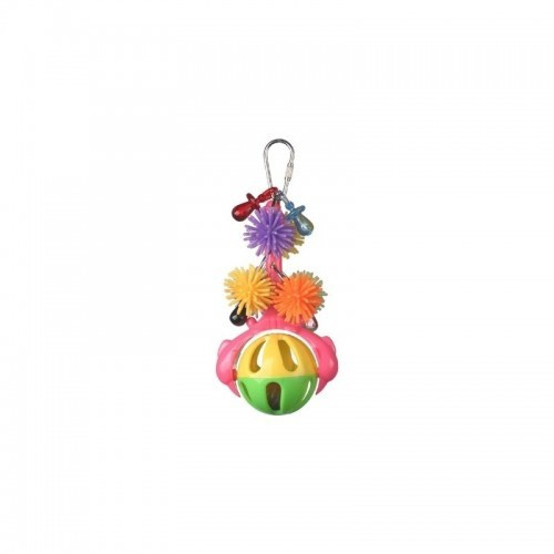 Juguete para loros Spinning Rattle multicolor