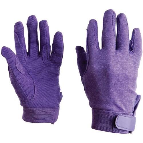 Guantes de equitación para adultos color Púrpura