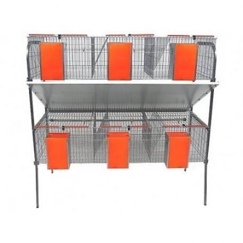 Jaula económica con varios departamentos para roedores color Gris