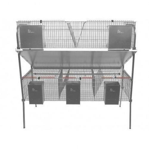 Jaula económica con 3 departamentos para roedores color Gris