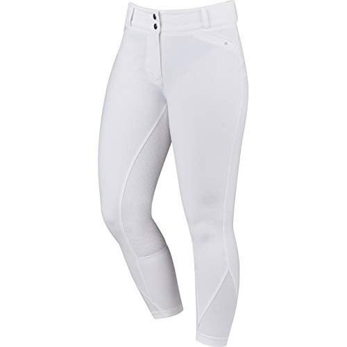 Pantalón de equitación Pro Form con bandana de gel para mujer color Blanco
