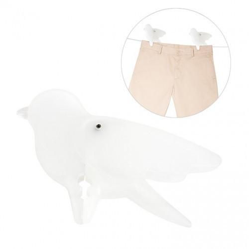 Pinza ropa Birdieb en forma de pájaro color Blanco