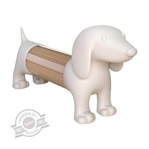 Palillero Teckel con forma de perro color Blanco