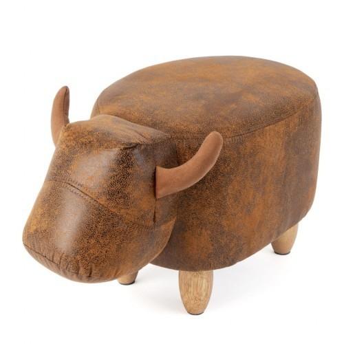 Taburete con forma de vaca color Marrón