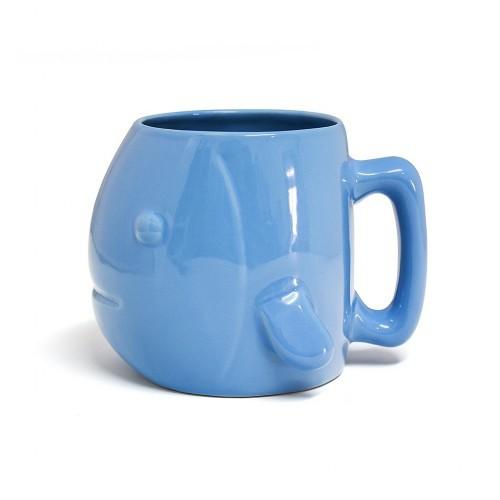 Taza cerámica con forma de pez color Azul
