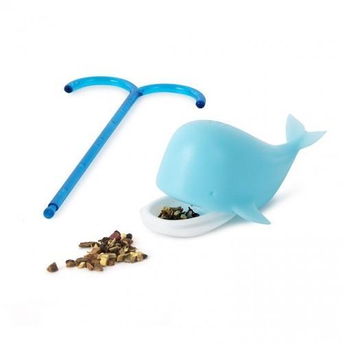 Infusor té Blue Whale en forma de ballena color Azul