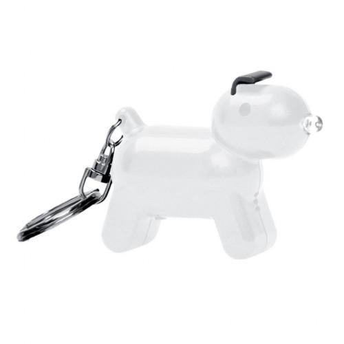Llavero Doggy en forma de perro y con sonido color Blanco