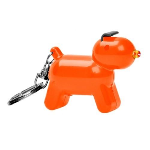 Llavero Doggy en forma de perro y con sonido color Naranja
