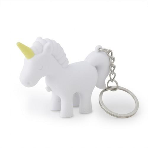 Llavero en forma de unicornio color Amarillo