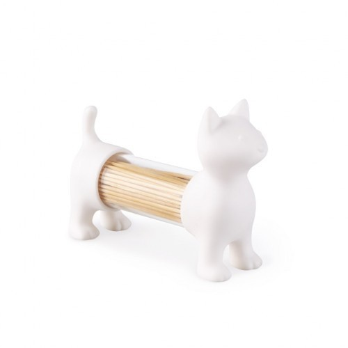 Palillero, salero y pimentero Cat color Blanco
