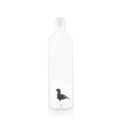 Botella para agua con figura de foca color Transparente