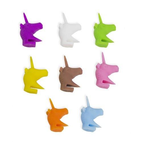 Marca de copas Unicorn con forma de unicornio color Variado