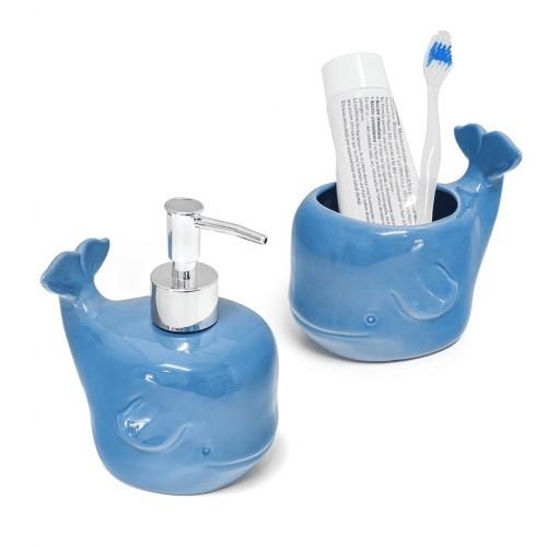 Set de baño Deep de cerámica color Azul