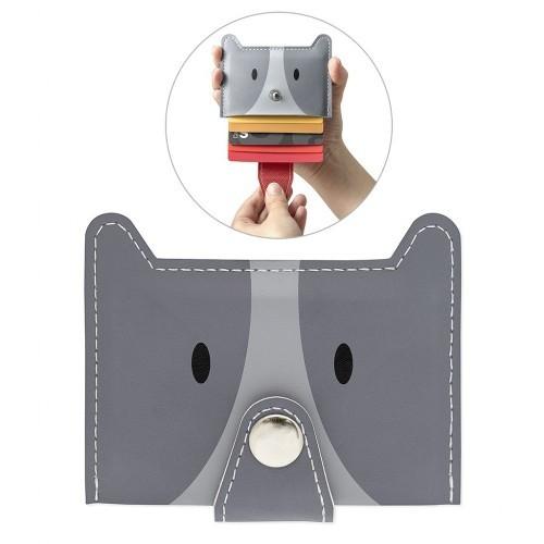 Zoo-wallet tarjetero forma de perro color Gris
