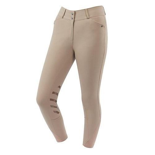 Pantalón de equitación con parches de gel para mujer color Beige
