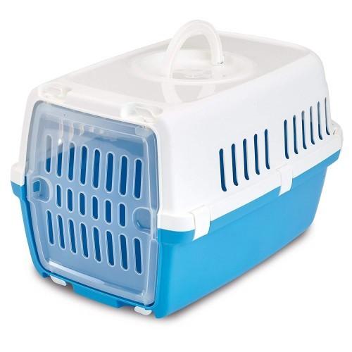 Transportín de plástico Zephos 1 color Azul/Blanco