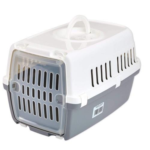 Transportín de plástico Zephos 1 color Gris/Blanco