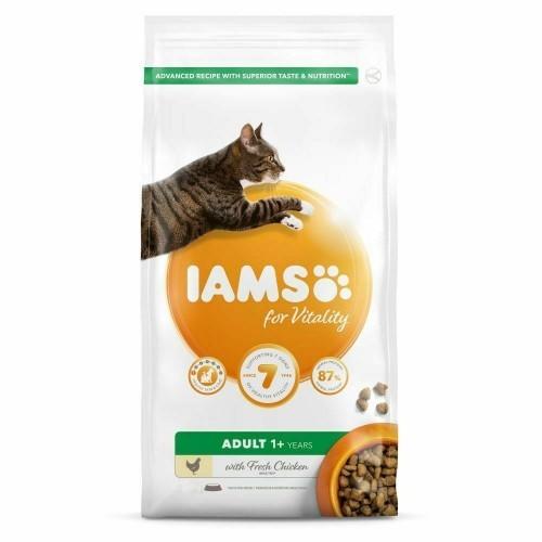 Pienso Iams Vitality de pollo para gatos adultos sabor Natural