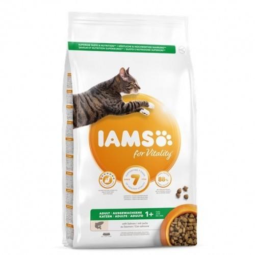 Pienso Iams Vitality de salmón para gatos sabor Natural