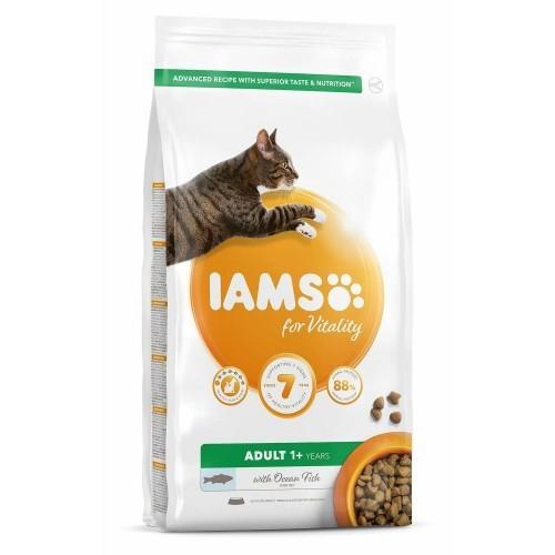 Pienso Iams Vitality de pescado para gatos adultos sabor Natural