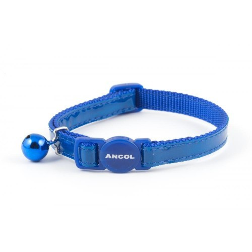 Collar con brillo reflectante para gatos color Azul