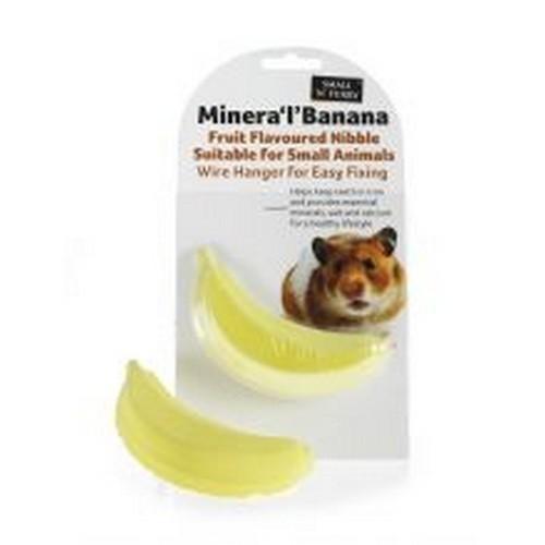 Bocado de plátano para mordisquear para roedores color Amarillo