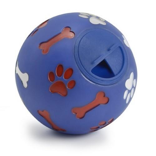 Bola de actividad y recompensa para perro color Azul