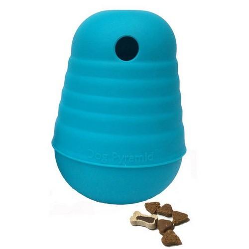 Dispensador de snacks Pyramid nivel 2 para perros color Azul