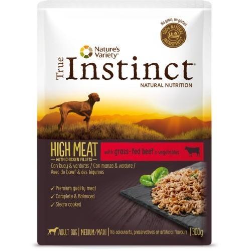 True Instinct High Meat Medium/Maxi Filetes Buey & verduras