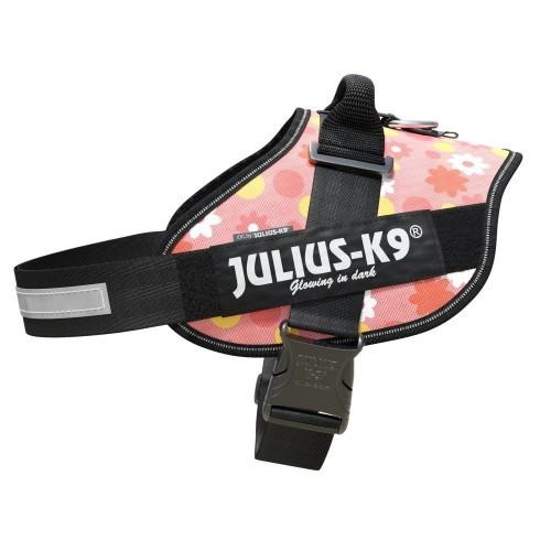 Arnés para perros Julius K9 IDC rosa con flores
