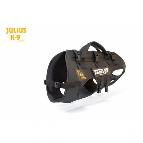Arnés para perros Julius-K9 de descenso y rappel negro