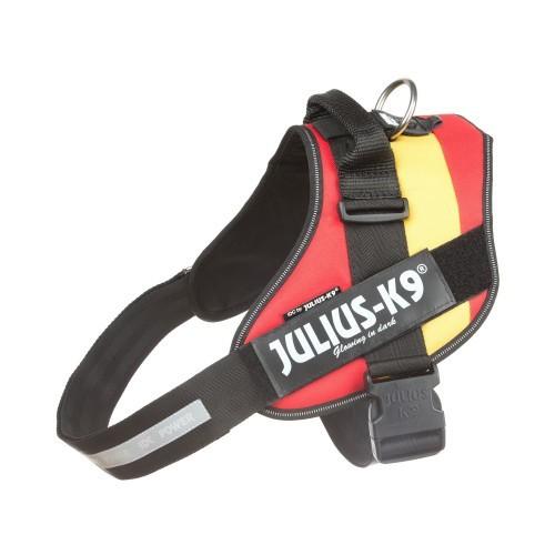 Arnés ergonómico Julius K9 España para perros color Rojo y amarillo