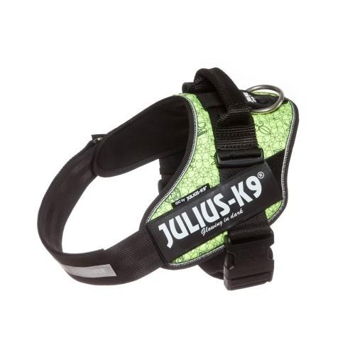 Arnés Julius K9 Atilla para perros color Verde Lima