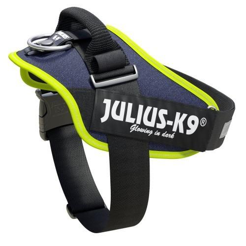 Arnés para perros Julius K9 color vaquero y neón