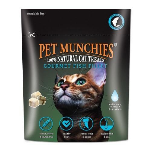 Snacks gourmet de filete de pescado para gatos