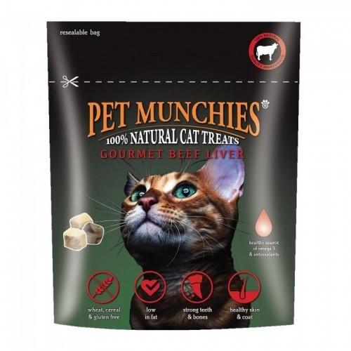 Snacks gourmet de hígado de ternera para gatos
